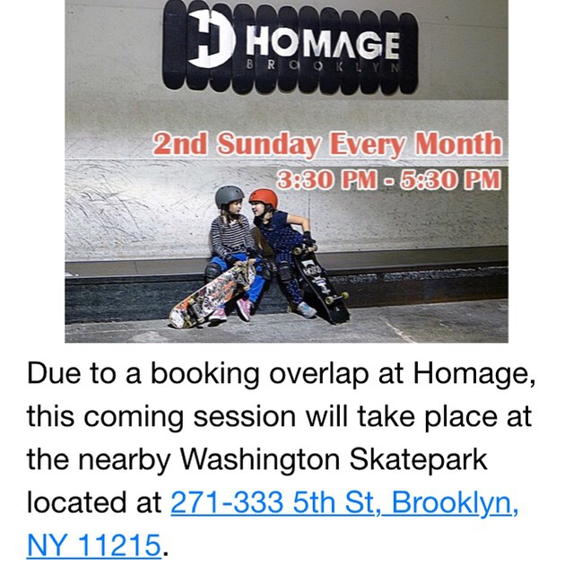 Join us Sunday at Washington Skatepark