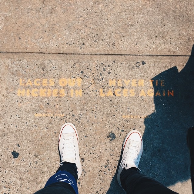 With over 100 stencils across the city, we're offering a FREE pack to anyone who can find a HICKIES stencil! An extra bonus pack if you're wearing HICKIES already! Here's the details: tag @hickies, follow us, and #ReplaceTheLace & #TheNewYorkTakeover...