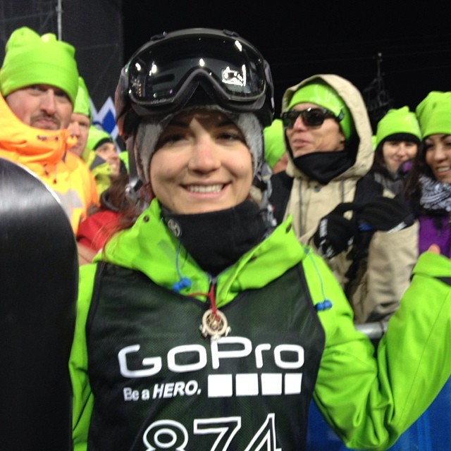 Not only is @elenahight a badass on the hill but she also does good off the hill - her @repreve jacket is made from 50 plastic bottle #turnitgreen #sustainable #xgames