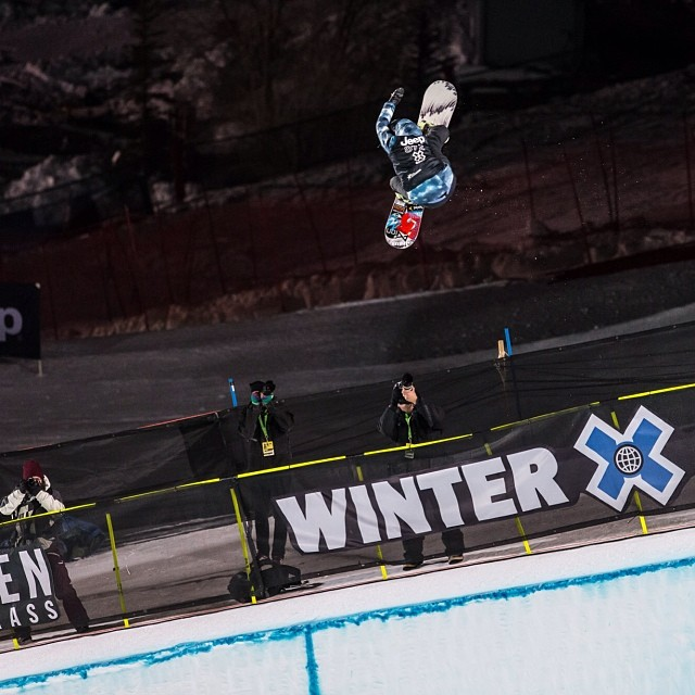 @kellyclarkfdn on her way to SuperPipe GOLD and becoming the most decorated female athlete in #xgames history. Congrats Kelly! (Photo @Christianpondella )