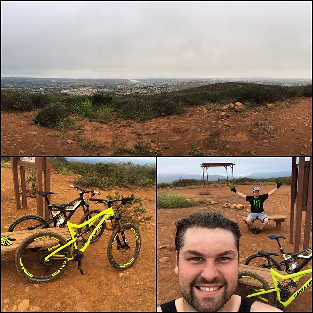 Couple of casual bike rides yesterday and today with @rugby jake in the Hills of LaCosta #skidiot