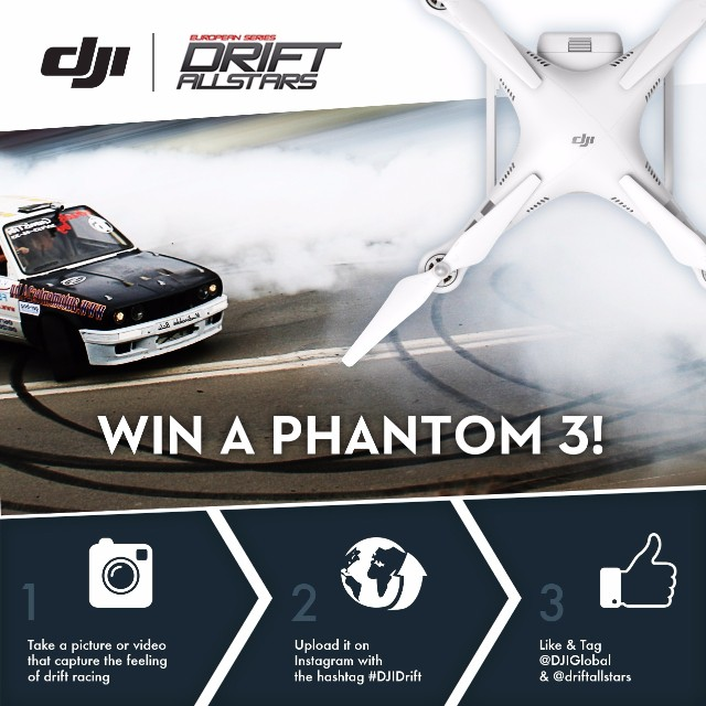 You think #TokyoDrift was cool. Time to look at #DJIDrift.  Simply follow these steps for a chance to win a #DJI #Phantom3 Advanced: 1) Capture a photo that best represents drift racing 2) Upload on to Instagram and hashtag #DJIDrift 3) Like and Tag...