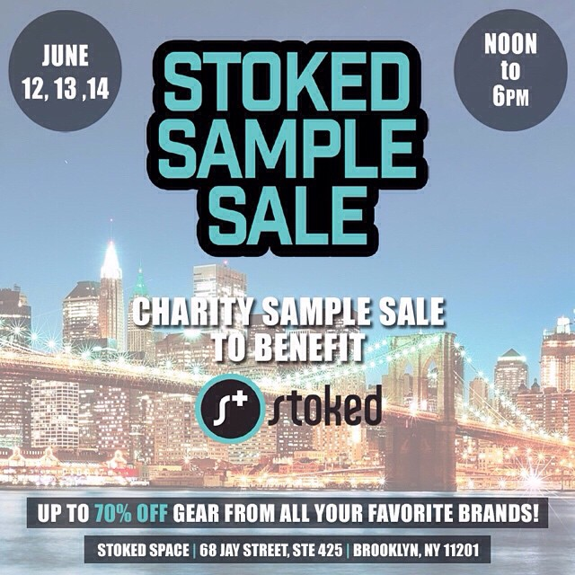 We've restocked our sale & are ready for another great day! #Shop the #stokedsamplesale to benefit @stokedorg today thru Sunday 12-6pm! @boundlessbrooklyn @protec @loudheadphones @skullcandy @volcom @oakley @nikesb @richerpoorer @official @drutherswear...