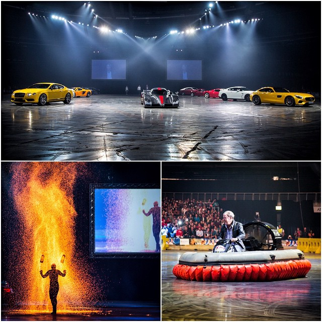Supercars. Hovercrafts. Fire. British Humor. The @ClarkHamMayLive show is a pretty damn amazing production! Really stoked to be a part of this here in South Africa. #ClarksonHammondandMayLive #backontheroad