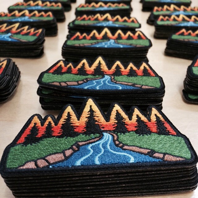 A little sneak peak of some new product that will be released June 19th at our open house. Come check this and a bunch of other new things out. #RISEdesigns #Meyers #hats #patches #meyerspride #trees #river #tahoe