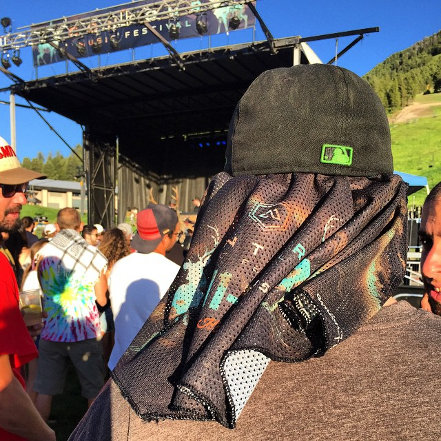 The @contourfestival was going off last night! So stoked to see Sage Francis and Thievery Corporation this weekend, right here in Jackson Hole!  I was also pumped to see a lot of the artists and festival crew rocking the custom Contour Bandaril...
