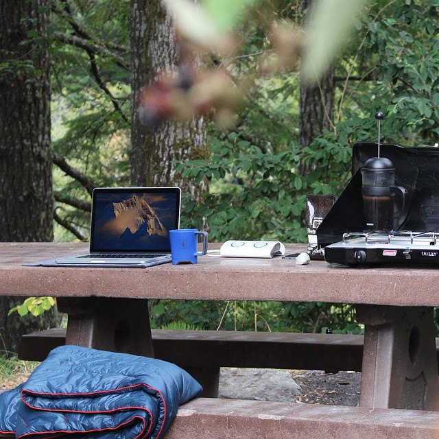 If you've gotta do work on the weekend, it might as well look like this #GreetTheOutdoors