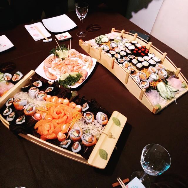 Más o menos el pibe... @gonzi91  #Sushi #Friends #EsMágicoooo #10years