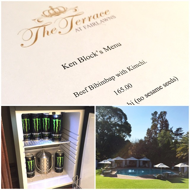 My hosts and hotel have taken excellent care of myself and my team here in South Africa: custom menu (based around my crappy dietary restrictions), fridge stocked full of @MonsterEnergy, and great service. Big thanks to The Fairlawns staff in...