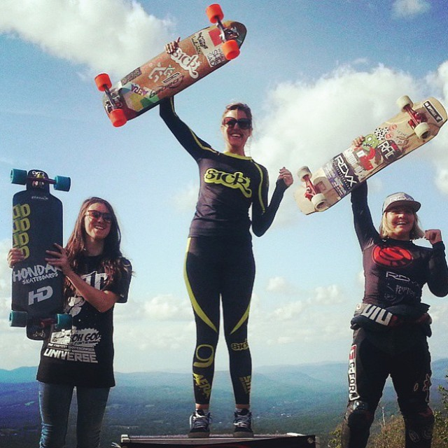 Repost from @idfracing  Burke's @pushculture Family Picnic Women's Podium!  1. @spokywoky  2. @emilylongboards  3. @melbrogni  4. @georgiabontorin  YEAH LADIES!!