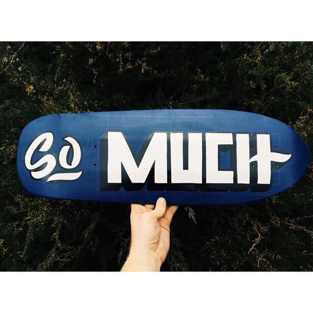 Sometimes we do custom boards. #handmadeskateboard #Nashville