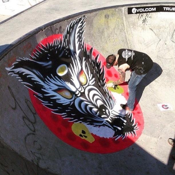 Martin Varbaro dejo su sello en Sarmiento SkatePark #WildInTheParks #FeaturedArtist #Cordoba #volcomWITP @mvarbaro