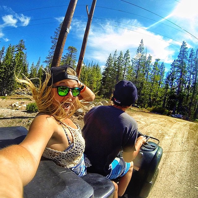 Today is #SelfieSunday! Think you have a selfie that should be featured today? Throw on your Kameleonz shades or T-shirt & hashtag #Kameleonz on your posts today! Featured accounts get a FREE pair of side arms!  Here we are four wheeling with...