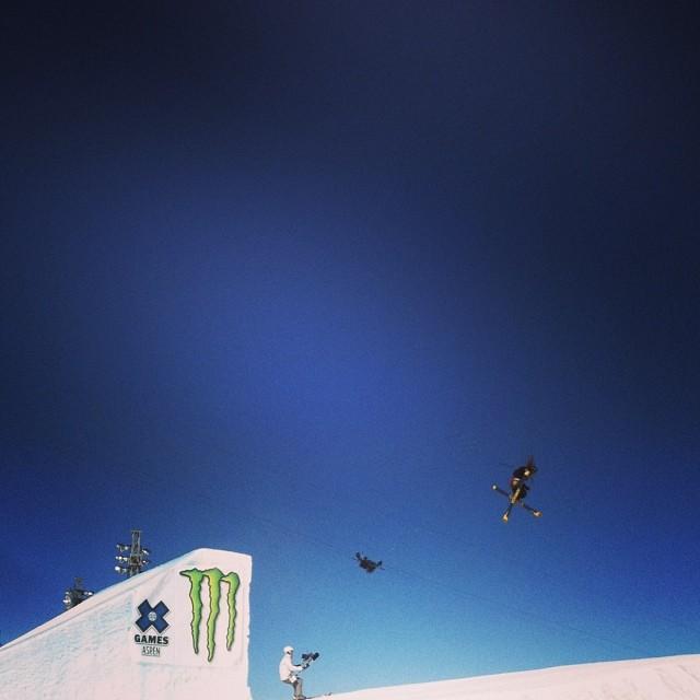 Men's slope style going down here in Aspen @xgames