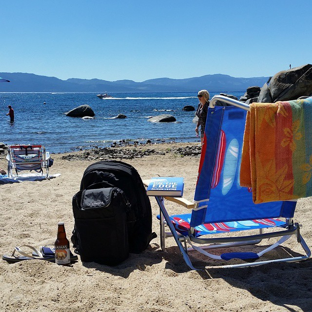 It's getting warm in #Tahoe and the boats, SUPs, Kayaks, and more are out!  We're out with the Tahoe backpack and some brews today.  Hope you're enjoying your Sunday! #weekends #beach #tahoelife #backpacks #coolers #graniterocx