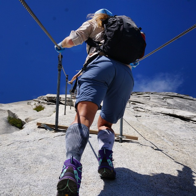 The minds ability to get past fear is a beautiful thing #halfdome #getdomed #adventure #Yosemite #explore #exploremore #outdoorwomen #sheexplores