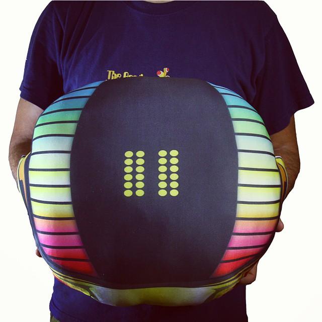 Con el casco almohadón, Get Lucky! #daftpunk #diseño #sanvalentin