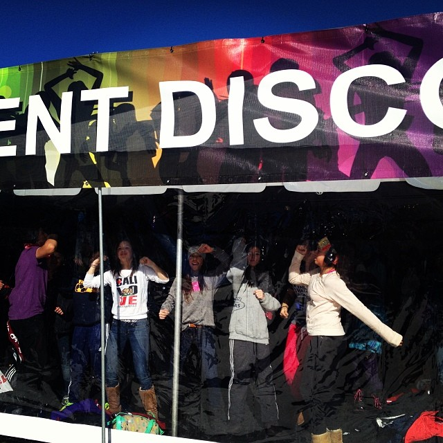 These girls are rockin out @xgames #silentdisco #xgames #dance