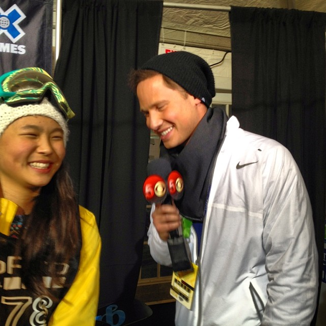 Super stoked for @chloekimsnow on her silver medal @xgames - annnnnd she's only 13 - somebody get this girl some candy! #xgames #snowboarding #future #lategram #sisterswhoshred