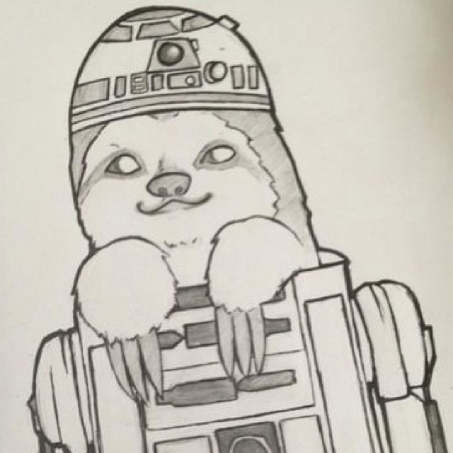 Sloth sunday. R2d2 sloth. #slothsunday #starwars #r2d2 #nerdalert