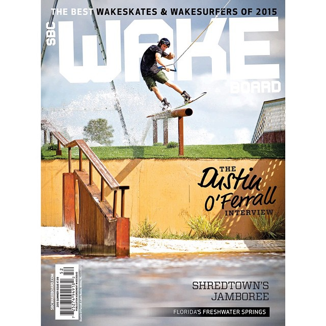 Congrats @dustinoferrall for landing the new cover of @sbcwakeboard shot at Lake Ronix! #ronixlove #ronix2015 #kinetikproject #onewithwater #fortifiedwithlakevibes #boombabe