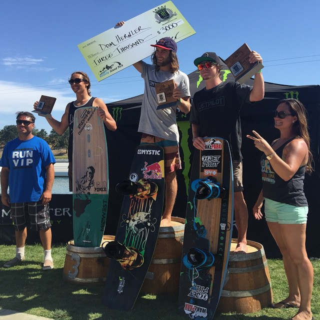 @domhernler on top of the podium again! Congrats on the win at @WakeParkTC #ronixlove #ronix2015 #kinetikproject #ohy #onewithwater #boombabe