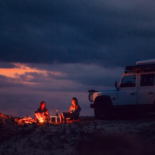 Road trip essentials - a board or two, your best friend and campfire catch ups under the stars. #ROXYready