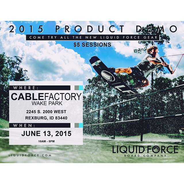 Demo Day tomorrow at @thecablefactory in Idaho!  Join the crew at the park from 10-5pm!