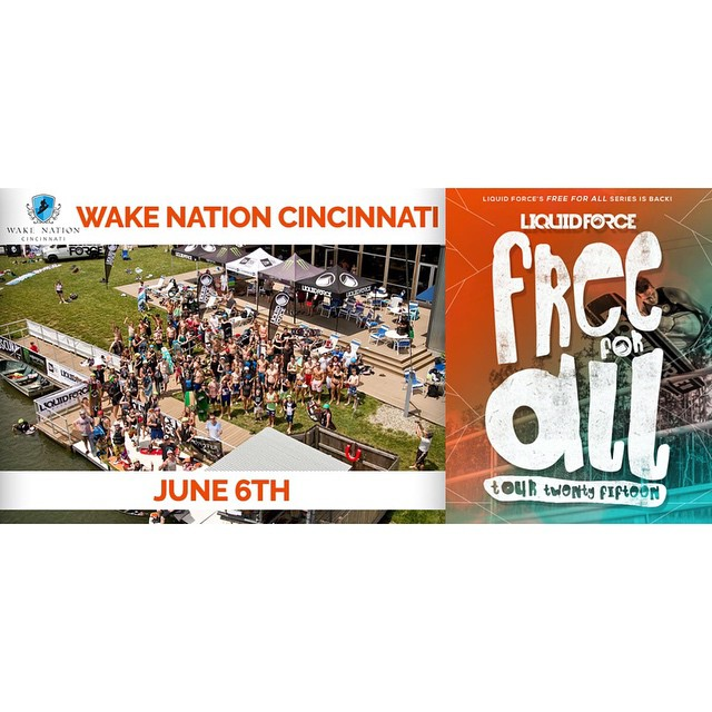 #FreeForAll takes over @wakenationcincinnati this Saturday!  201 Joe Nuxhall Way Fairfield, OH 45014  Phone: 513-887-WAKE WakeNation.com  10am - Noon Beginner Blowout (First Timers First!) Noon - 4pm F4A (Open Season) 4pm - 5pm Obscura Power Hour...