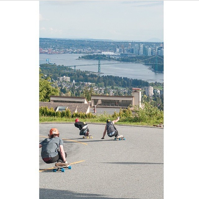 #viciousteam rider @mackwacey rallying runs with @leecation and @dexmanning on a hot #Vancouver spot last week.