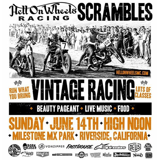 You've seen the collaboration... So come out to experience the @hellonwheelsmc chaos this Sunday at @milestonemx. #VonZipper #FreewheelersMX