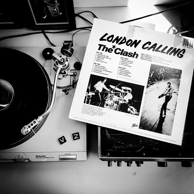 For a little inspiration... #LondonCalling #TheClash #TurntableTuesday #VonZipper