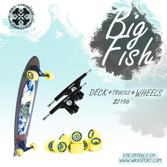 Empeza la semana invitirtiendo en algo bueno! Conseguí la big fish solo en www.wikasport.com  #Longboard #longboarding #longboards #longboarder #longboardlife #longboarders #longboard4life #longboardlove #longboardsworld #longboardlifestyle...