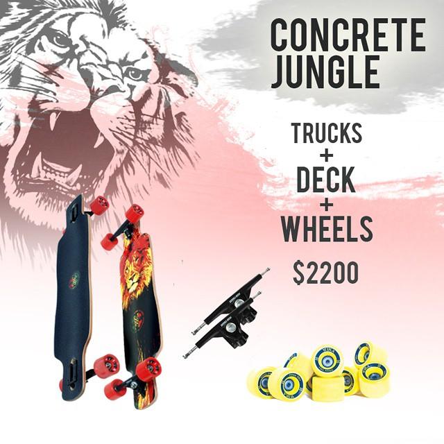 """Concrete Jungle! Últimos días para aprovechar el descuento con tu compra """"30%OFF""""  #andarxandar  #longboard  #enjoy #free #sport #good"""