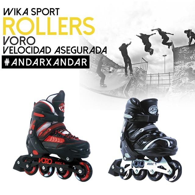 Patina con estilo! Rollers Wika!!! #WikaSport  #andarxandar !!!