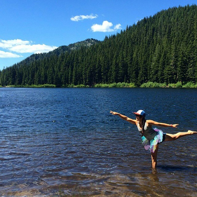 #regram from @yuliaaaa_d. A #shejumps hike to Olaille lakes in the #pnw. We love the tutu!