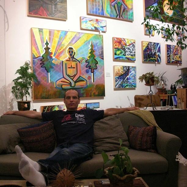 Gary's studio is always inspiring. #garyjacobs garyjacobsart.com