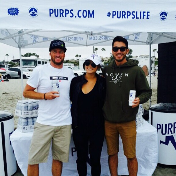 The Hoven Team checks out that @purps life at the @uspfc because  A) #monday and B) Need the energy to support all theses amazing police, firemen and lifeguards. #hovenvision #surf #california #energy #purpslife