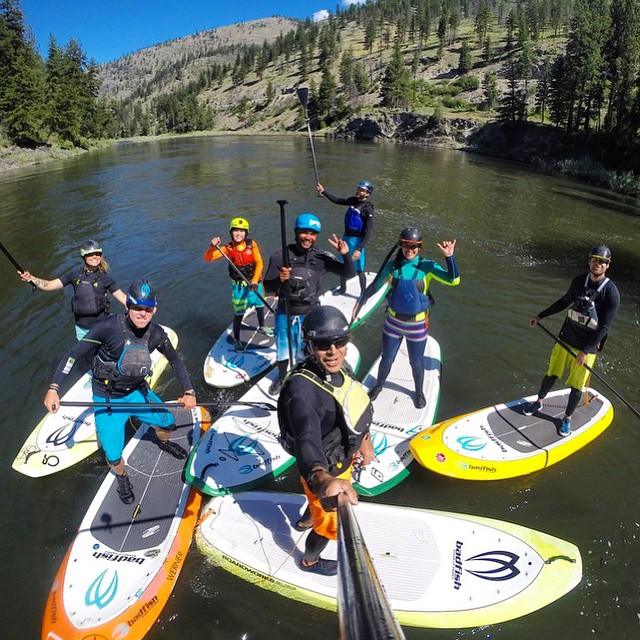 Best River Family Ever! @badfishsup @boardworkssurfsup #welivewater PC: @rivershred #gopro