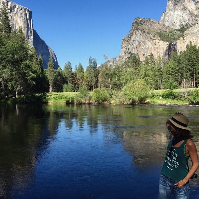 @theeleganthippie takes an unexpected detour to Yosemite National Park in our ladies Leave It Better racerback! Available at parksproject.us. #parksproject #radparks #stewardsofparks