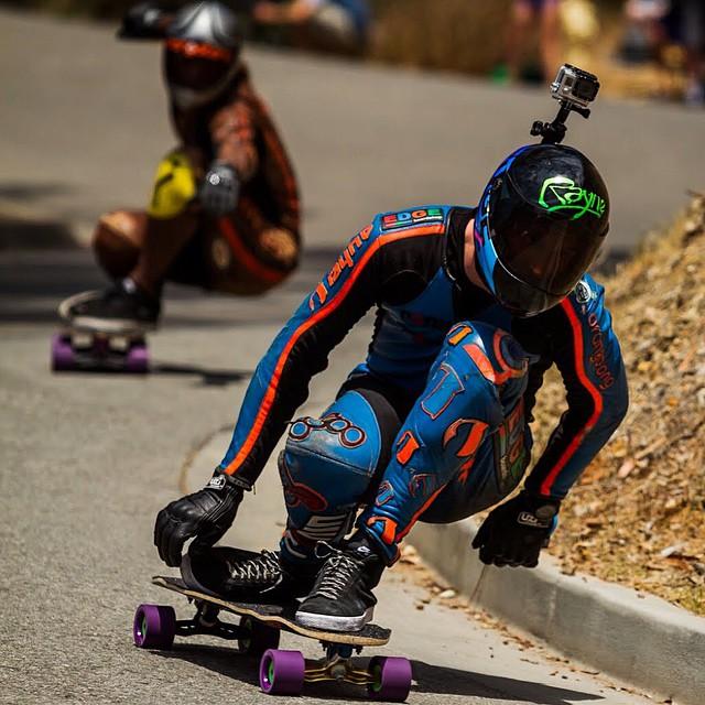 @patrickswitzer with @dusty_ham hot on his heels riding the same wheels #Kegel #orangatangwheels