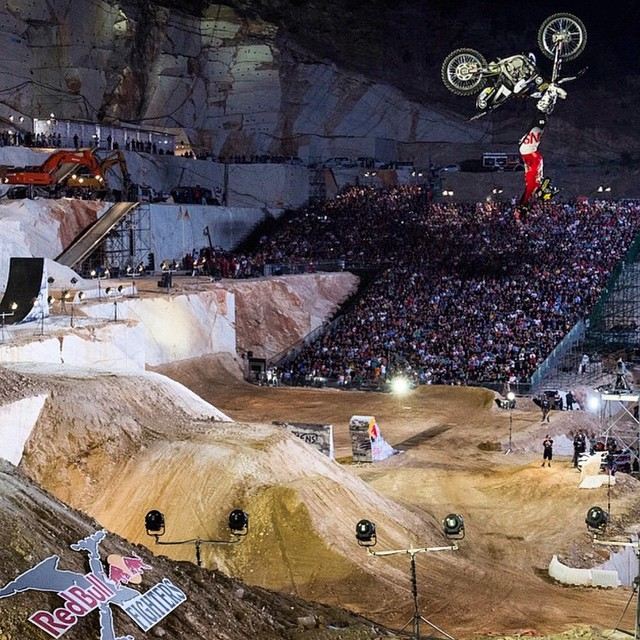 Our dude @RobAdelberg destroyed it at @RedBullXFighters #Athens this weekend and this shot proves it