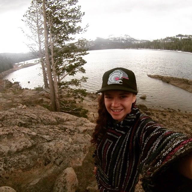 Who needs a #coalitionsnow hat? @tahoetatum models how great they are for summer sun protection while on the go!  Head to our website and check out the sales. #sisterhoodofshred #getthegear