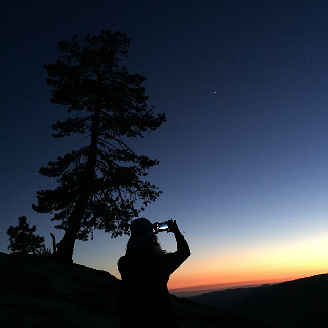 Goodnight world. Let's do it again tomorrow. @rachshredgnar capturing the calm atop Sentinel Dome #yosemite  Congrats to my Chicago family on the #blackhawks #stanleycup win!!!