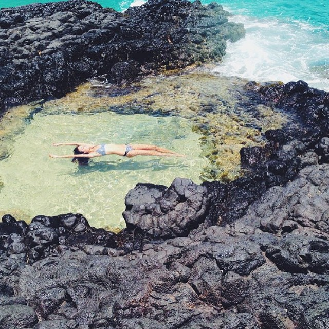 Sweet @ashleyjohnstondesign floating in the #seeacapitola in black Porto. Shot by @codisbaru #myseealife