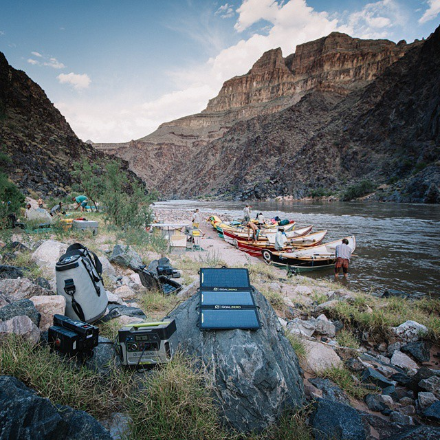 @ngkelley kept it all charged while shooting for @outsidemagazine on a trip through the Grand Canyon in some old school dories.  #GetOutStayOut