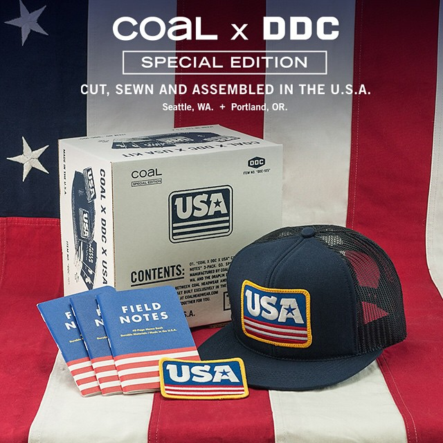 The COAL X DDC X USA Kit is 100% American Made and exclusively available in the webstore now. One lucky shopper will even win a signed @draplin print. Link in bio for more info.