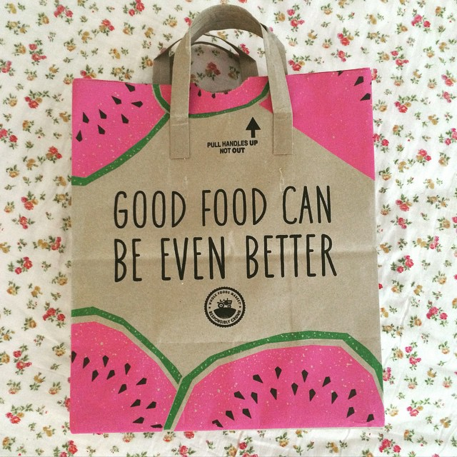 You had me at #watermelon @wfmbrooklyn! #summer @wholefoods #new #bag #design #love