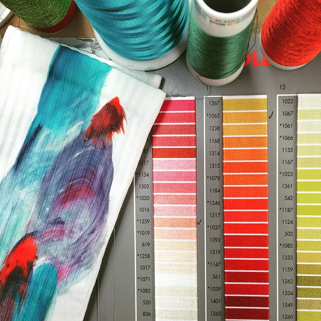 Choices, choices! Workin on the XS 2016 women's sock line. It's time girls got their own stuff #XSsocks #watercolour #originaldesign #surf #skatebikeboardski