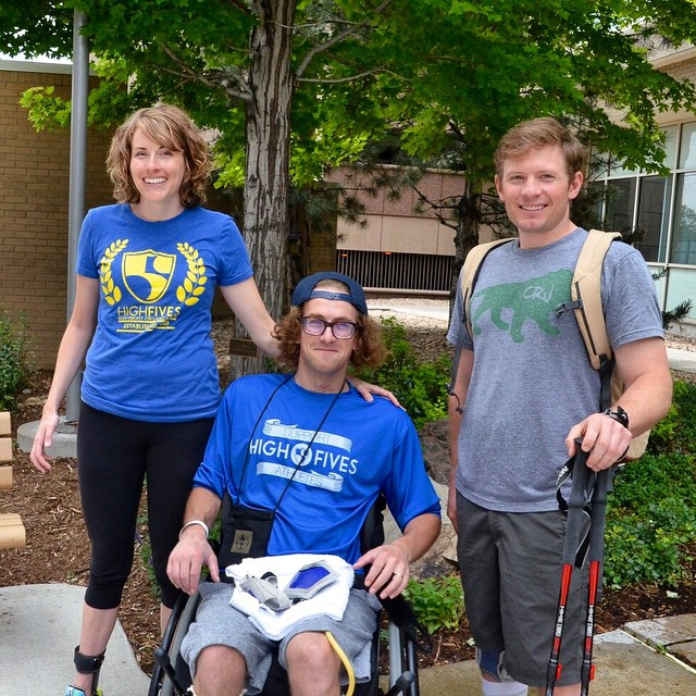 ALONE we can do so little, TOGETHER we can do so much! #HighFivesAthlete @sallyfranck @elevatedimg & @perpetualweekend at @craighospital #CraigHospital